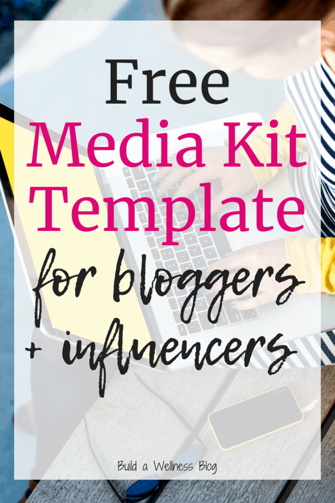 How To Create A Blogger Media Kit Free Media Kit Template